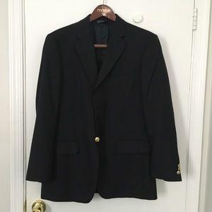 Men's suit jacket, black 38R